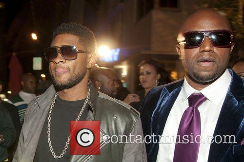 Usher and Rico Love  Birthday party for...