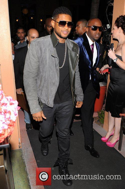 Usher  Birthday party for Rico Love at...