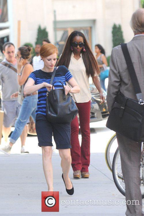 Jessica Chastain shoots scenes for 'The Disappearance of...