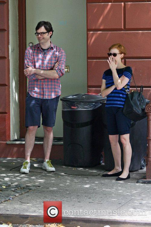 Bill Hader and Jessica Chastain 2