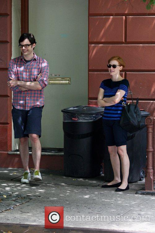 Bill Hader and Jessica Chastain 3