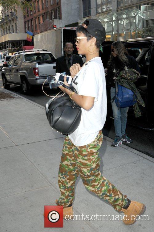 Rihanna is seen arriving at her Manhattan hotel
