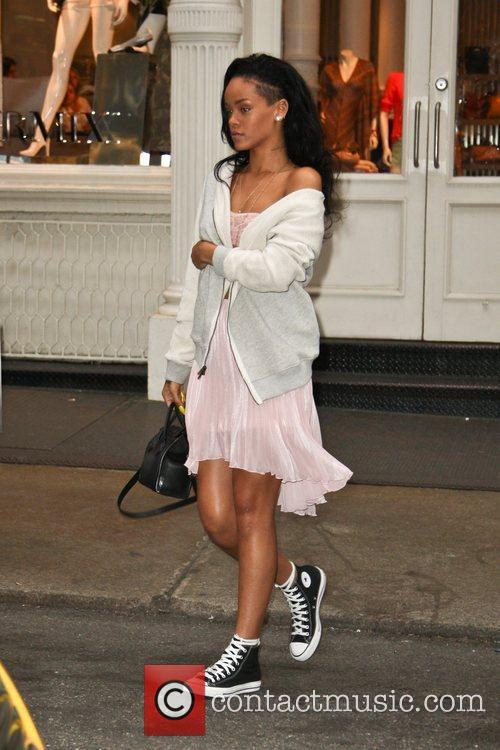 Rihanna out shopping with friends in Soho, Manhattan....