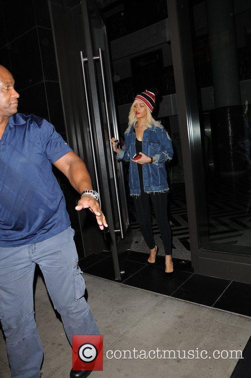 Rihanna leaving her hotel in Manhattan New York...