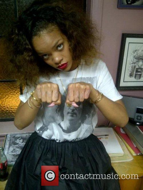 Rihanna posted this picture of herself at a...