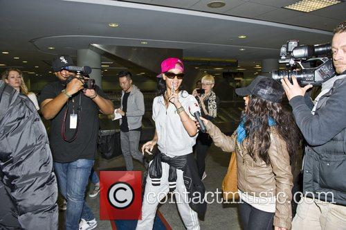 Rihanna arriving in Toronto airport
