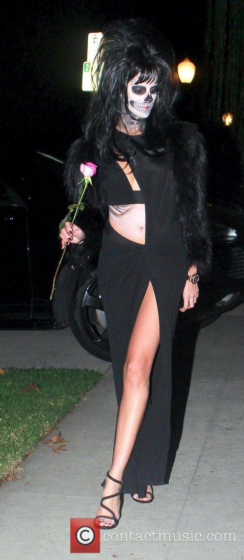 Attended Rihanna's Halloween party held at Greystones Manor...