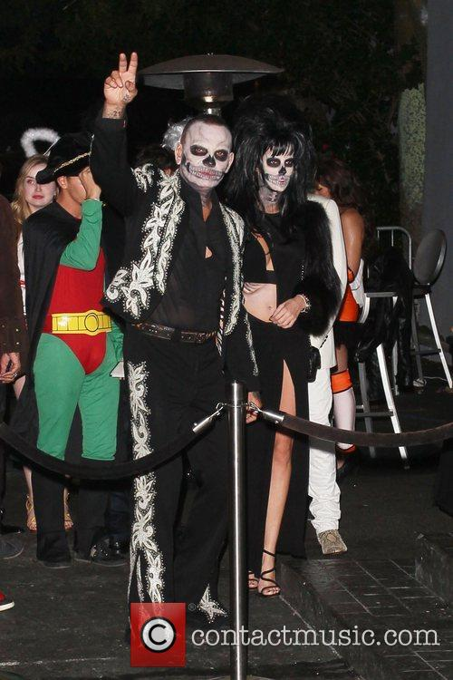 Arrive at Rihanna's Halloween party held at Greystones...