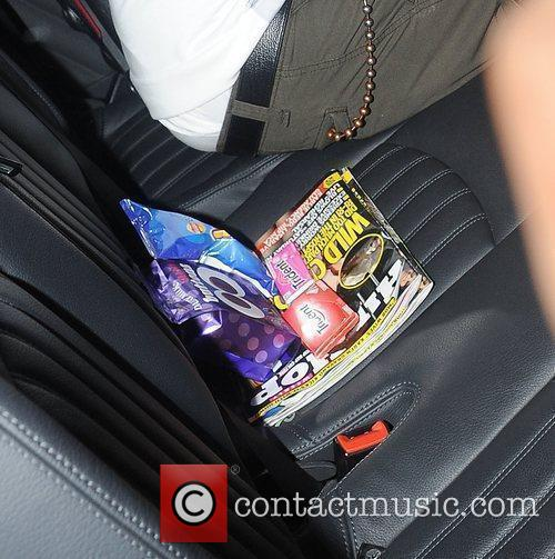 Contents of the backseat of her limousine consisted...