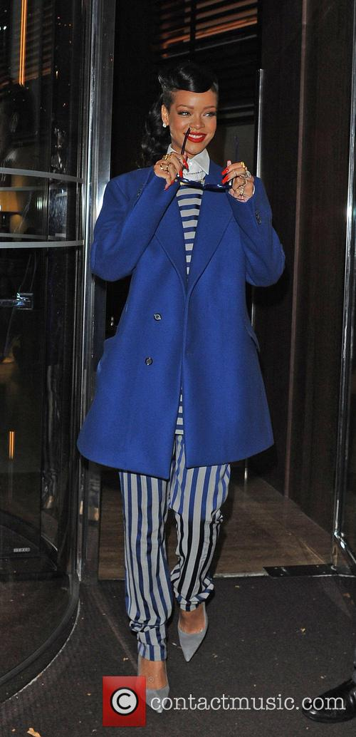 Rihanna leaving her hotel  Featuring: Rihanna