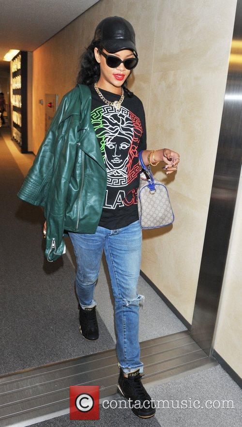 Rihanna arrives at Narita International Airport ahead of...