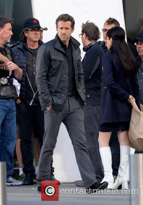 Ryan Reynolds Actors filming scenes for the upcoming...