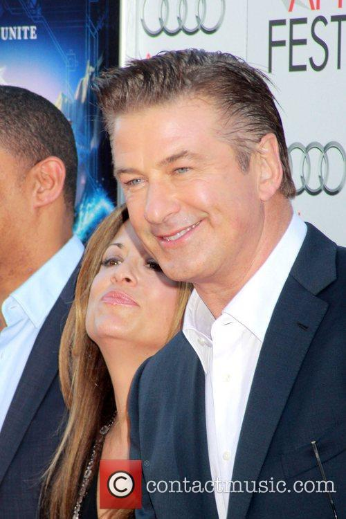 Peter Ramsey, Christina Steinberg, Alec Baldwin and Grauman's Chinese Theatre