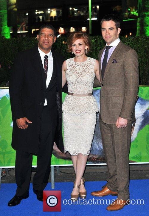 Chris Pine, Isla Fisher, Peter Ramsey and Empire Leicester Square 5