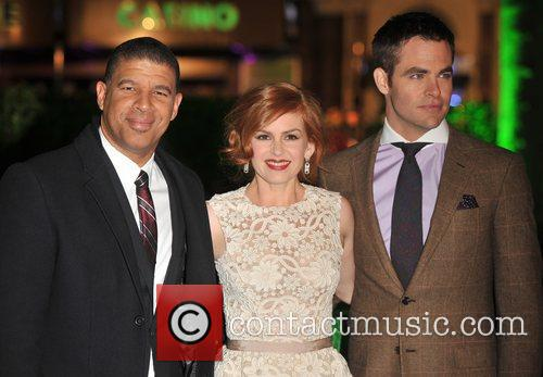 Chris Pine, Isla Fisher, Peter Ramsey and Empire Leicester Square 1