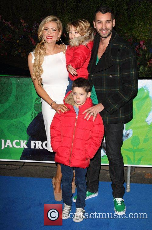 Nicola McLean, Tommy Williams and children at the...