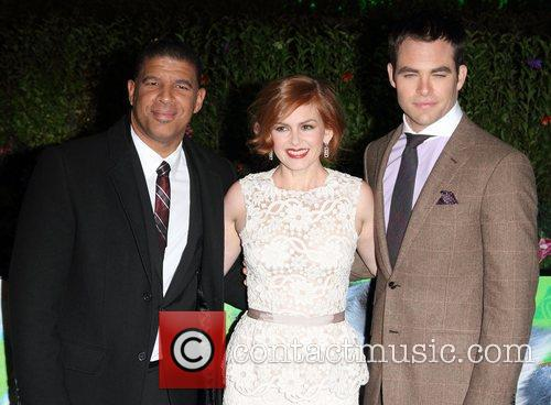 Peter Ramsey, Isla Fisher and Chris Pine at...