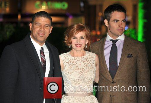 Chris Pine, Isla Fisher, Peter Ramsey and Empire Leicester Square 11