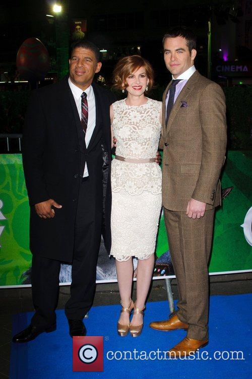Peter Ramsey, Isla Fisher and Chris Pine UK...