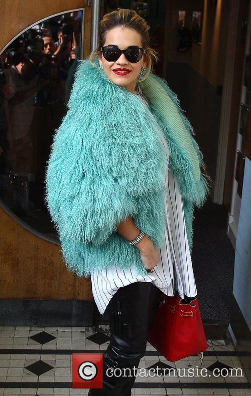 Rita Ora at the BBC Maida Vale studios...