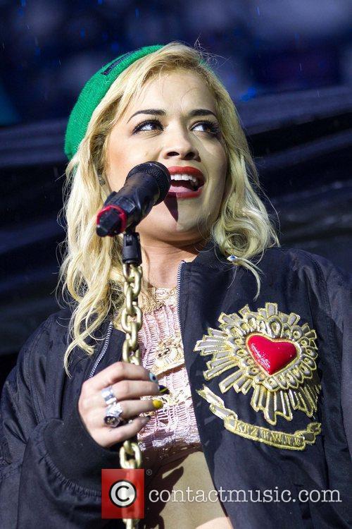 Rita Ora performing live at Estadio do Dragao...