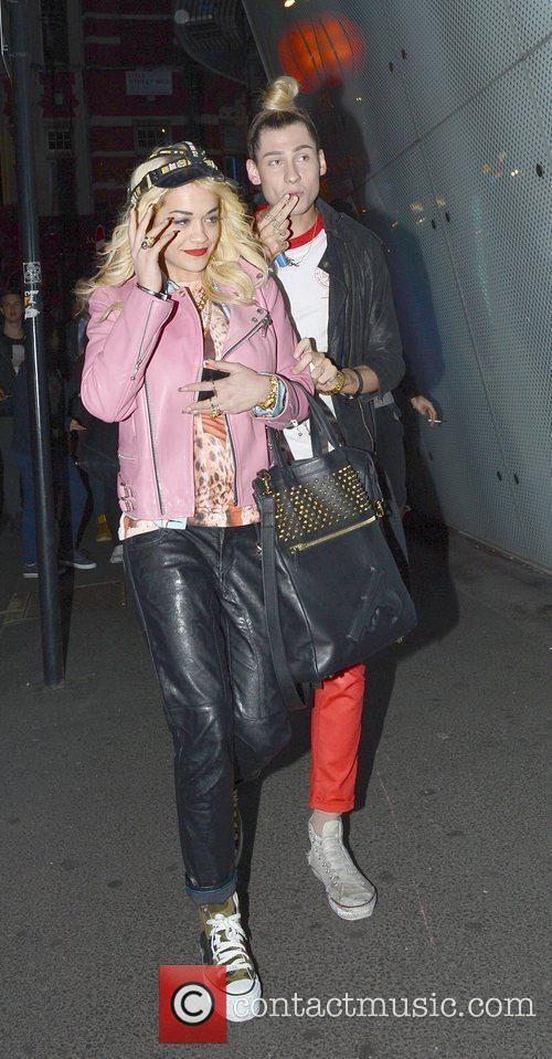 Rita Ora and a friend arrive at W...