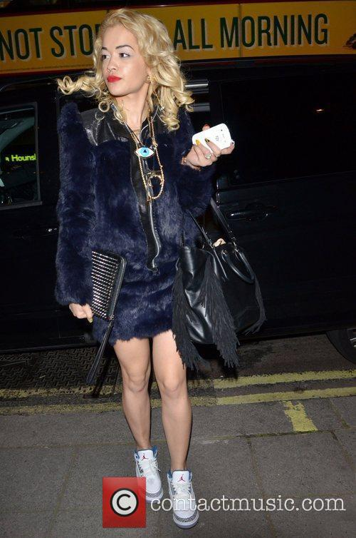 Rita Ora  arriving at a Central London...