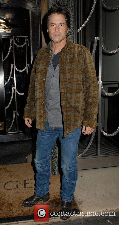 Rob Lowe at Claridge's hotel