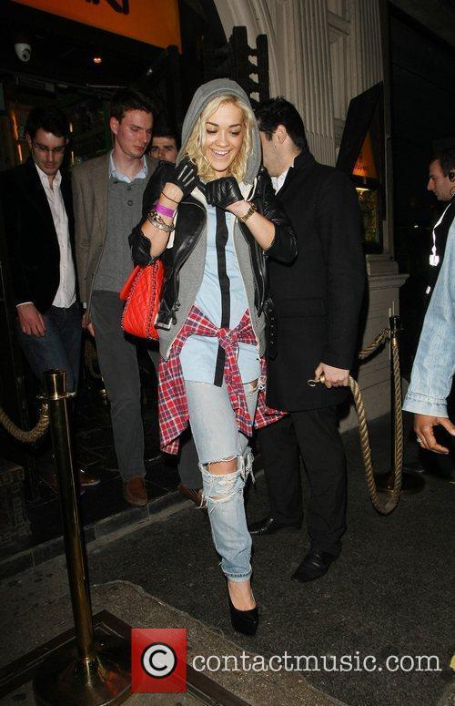 Rita Ora seen leaving Mahiki Nightclub