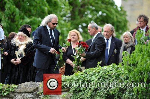 Dwina Gibb and Barry Gibb The funeral of...
