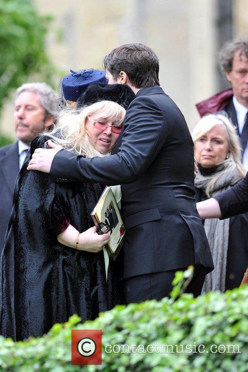 Dwina Gibb and Robin-John Gibb The funeral of...