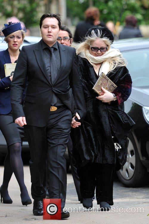 Robin-John Gibb and Dwina Gibb The funeral of...