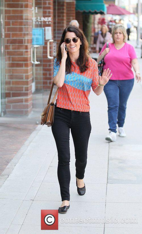 Actress Robin Tunney seen out and about in...