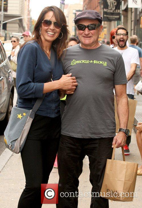 Robin Williams and Susan Schneider 1