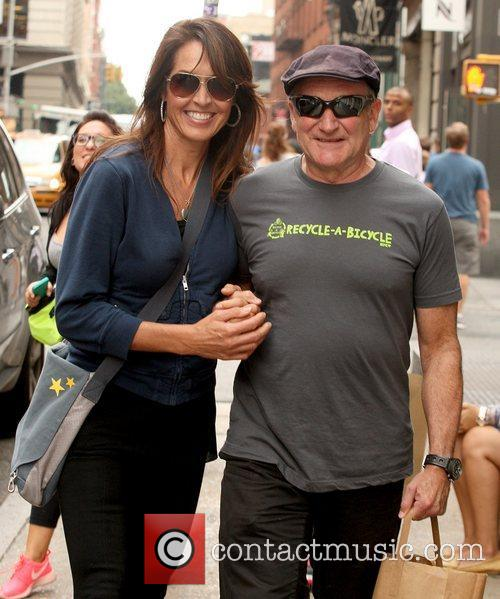 Robin Williams and Susan Schneider 6