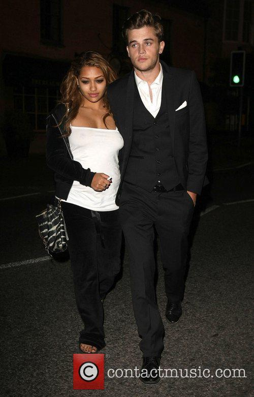 The wedding of Rochelle Wiseman and Marvin Humes...