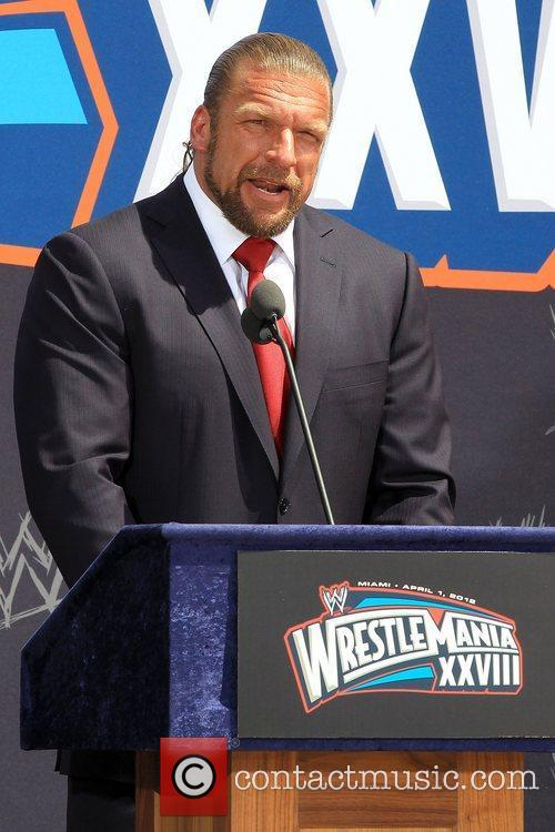 The Press Conference for WrestleMania XXVIII at the...
