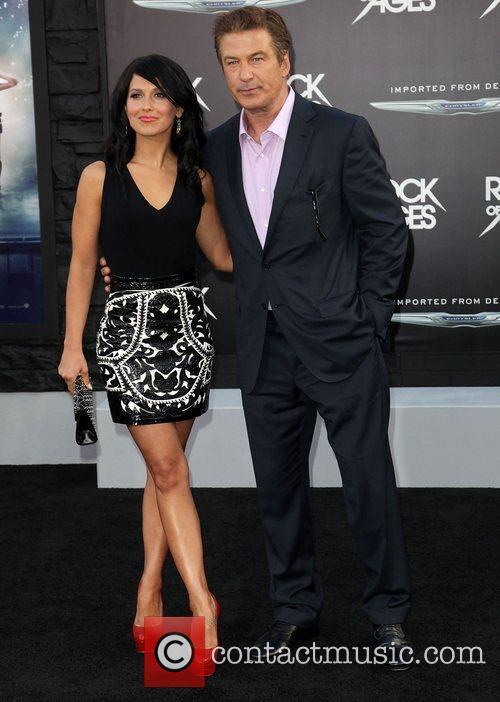 Hilaria Thomas and Alec Baldwin Premiere of Warner...