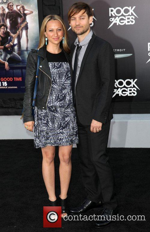 Jennifer Meyer and Tobey Maguire Premiere of Warner...
