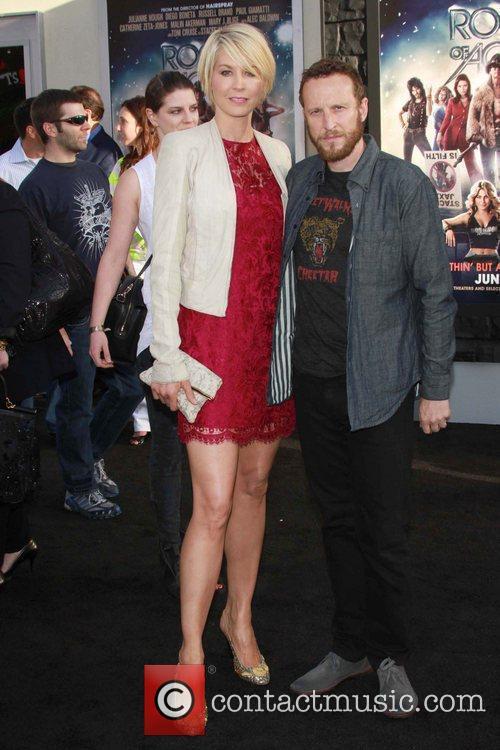 Jenna Elfman, Bodhi Elfman Premiere of Warner Bros....