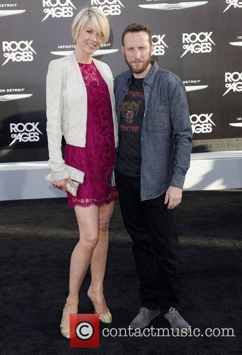 Jenna Elfman and Bodhi Elfman Premiere of Warner...