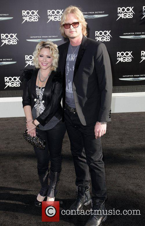 Singer Joe Elliott and guest Premiere Of Warner...