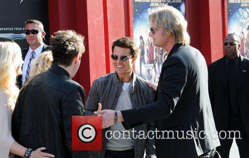 Tom Cruise and singer Joe Elliott Premiere Of...