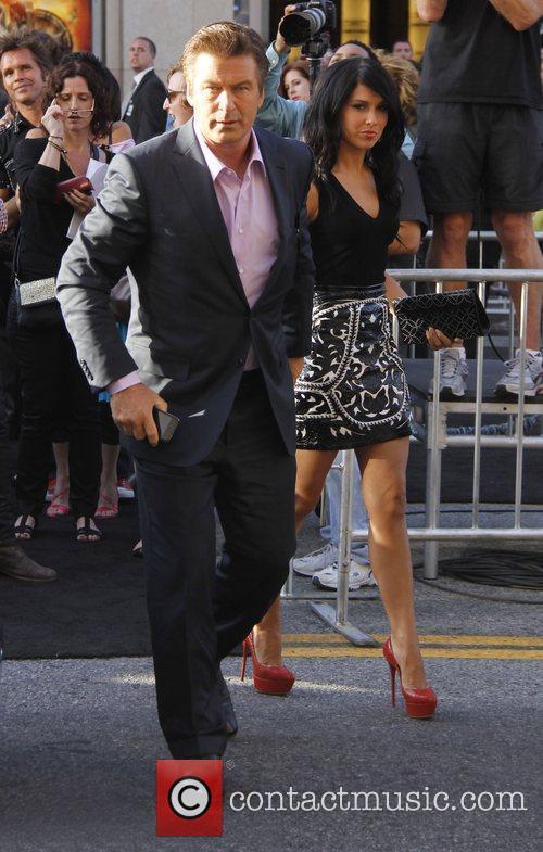 Alec Baldwin and Hilaria Thomas Premiere of Warner...