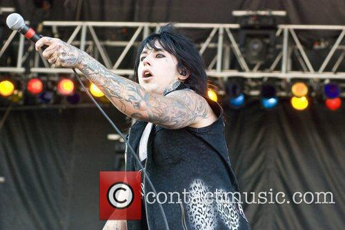 Falling in Reverse perform at Rock on the...