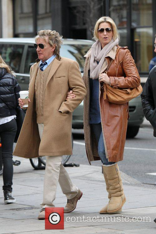 Rod Stewart and Penny Lancaster out and about...