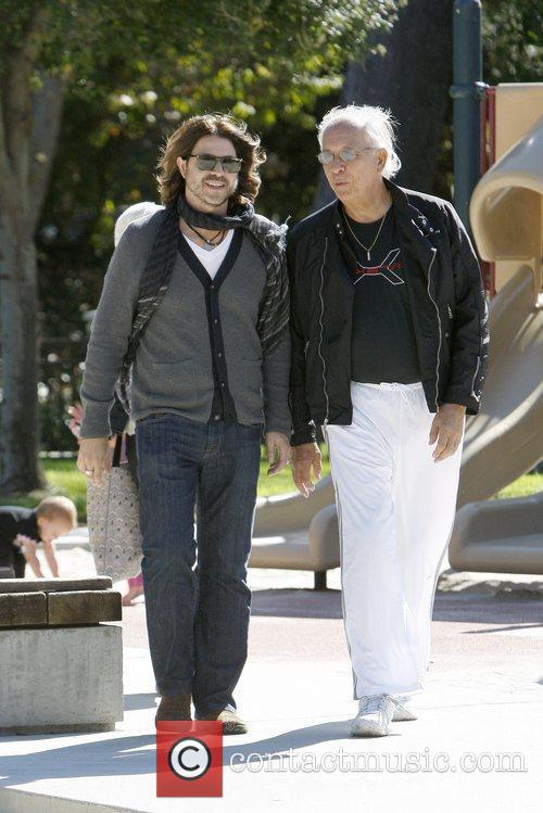 Rodger Berman seen with his son Skyler at...