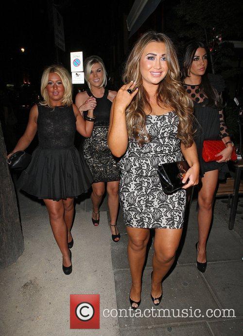 Lauren Goodger arriving at Roka restaurant London, England
