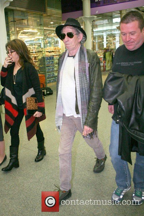 Keith Richards The Rolling Stones arrive at Kings...
