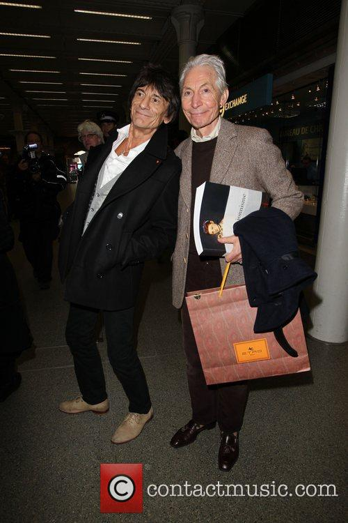 Charlie Watts and Ronnie Wood 8